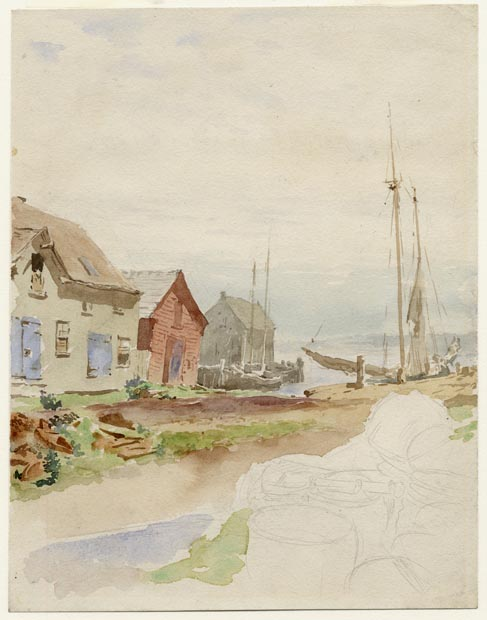 Image of painting : Wharf At Charlottetown