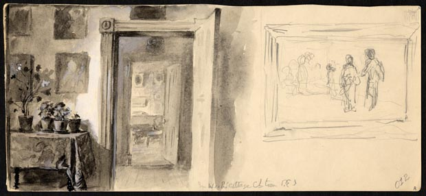 Image of painting : Interior Of House: Figures