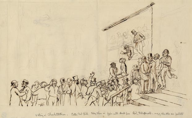 Image of drawing : Voting In Charlottetown