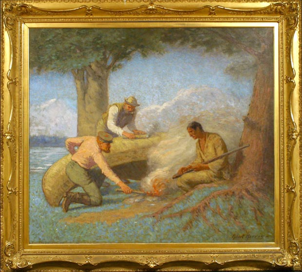 Image of painting : Gumming The Canoe