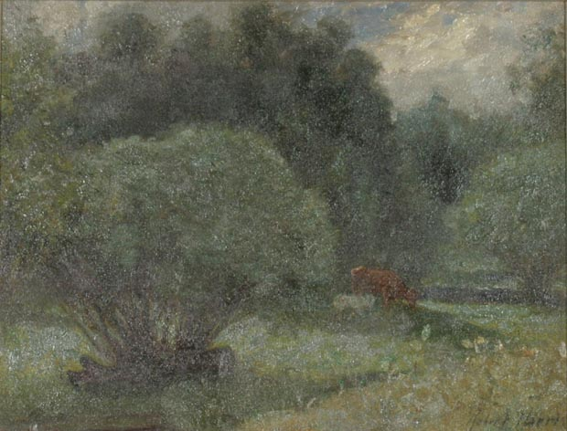 Image of painting : Wooded Meadow With Cow