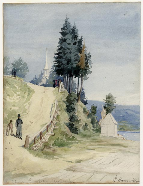 Image of painting : Church - Gaspe