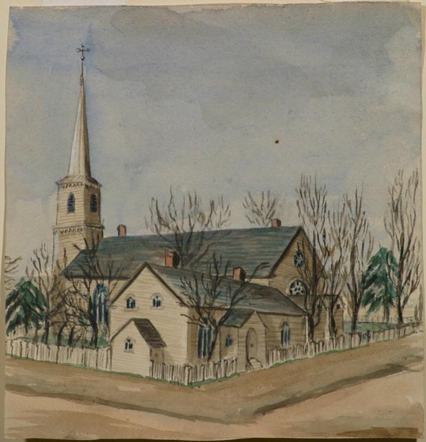 Image of painting : Church On Street Corner