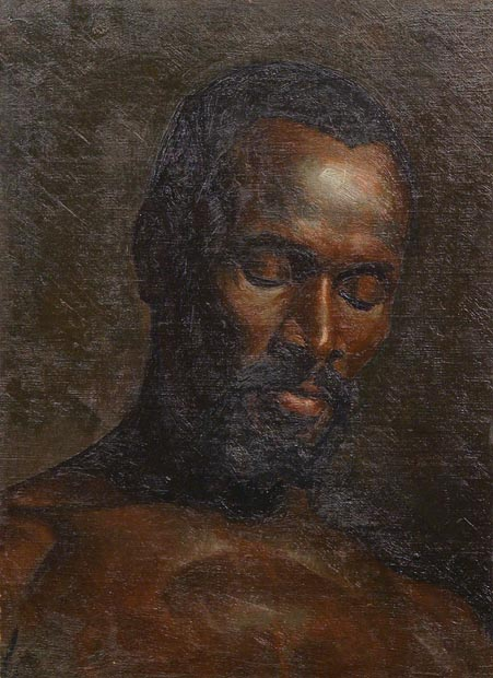 Image of painting : Head Of A Negro Man