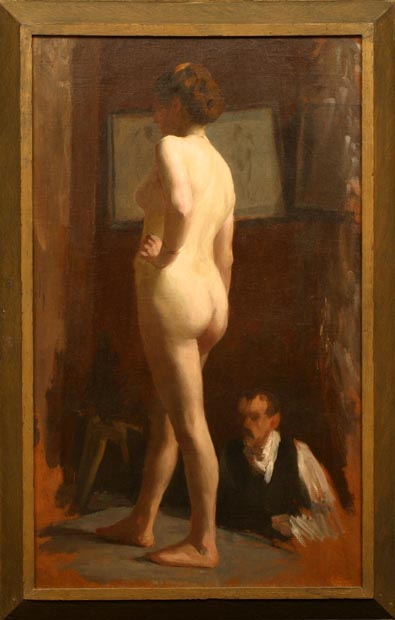 Image of painting : Standing Nude (Study)