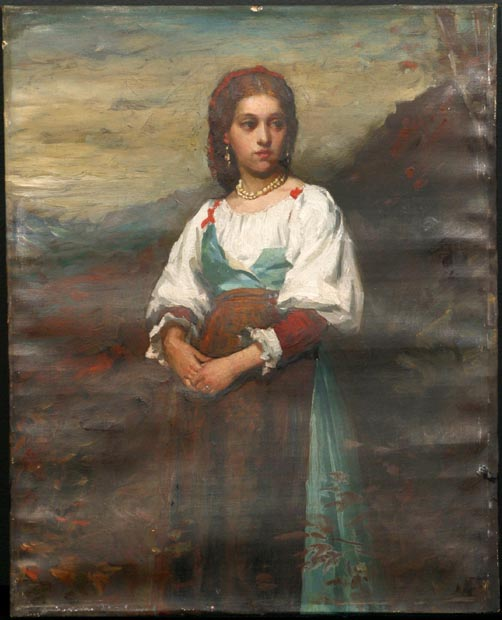 Image of painting : Portrait Of An Italian Girl