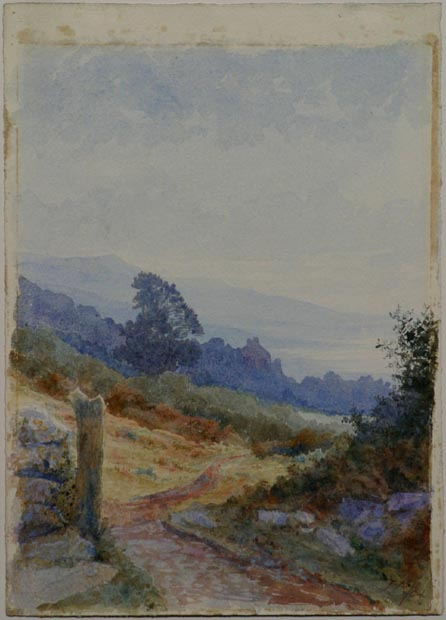 Image of painting : Country Path (English Countryside)