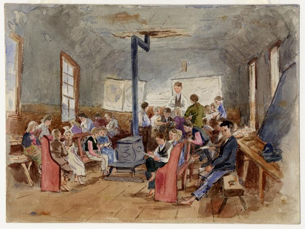 Image of painting : School At Canoe Cove, P.E.I.