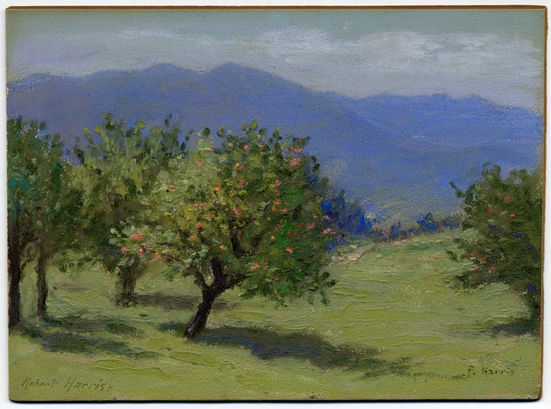 Image of painting : In an Orchard in the Adirondacks