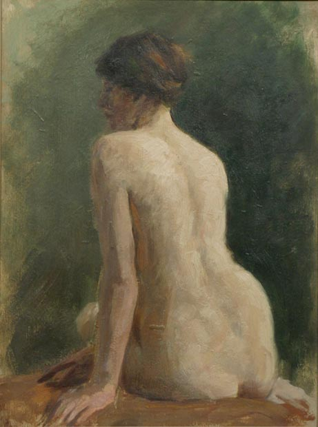 Image of painting : Life Study - Female Seated
