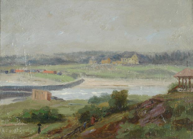 Image of painting : Entrance Kennebunk River, U.S.A.
