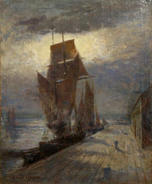 Image of painting : Wharf And Boats